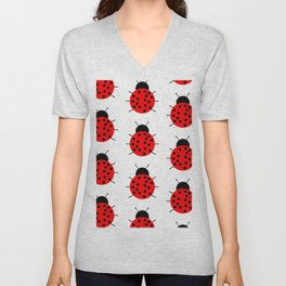 Ladybugs Unisex V-Neck