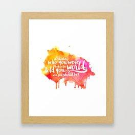 Do You Remember? Framed Art Print
