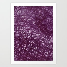 Ophelia Black Art Print
