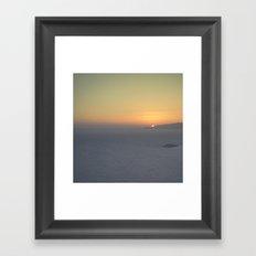 Middle mist Framed Art Print