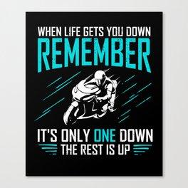 Motorbike Rider Motorcycle Biker Motorcyclist Gift Canvas Print