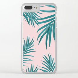 Palm Leaves Pattern Summer Vibes #1 #tropical #decor #art #society6 Clear iPhone Case