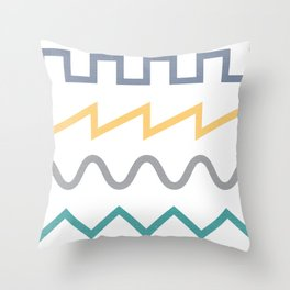 Waveform Throw Pillow
