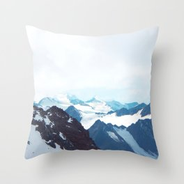 No limits - mountain print Throw Pillow