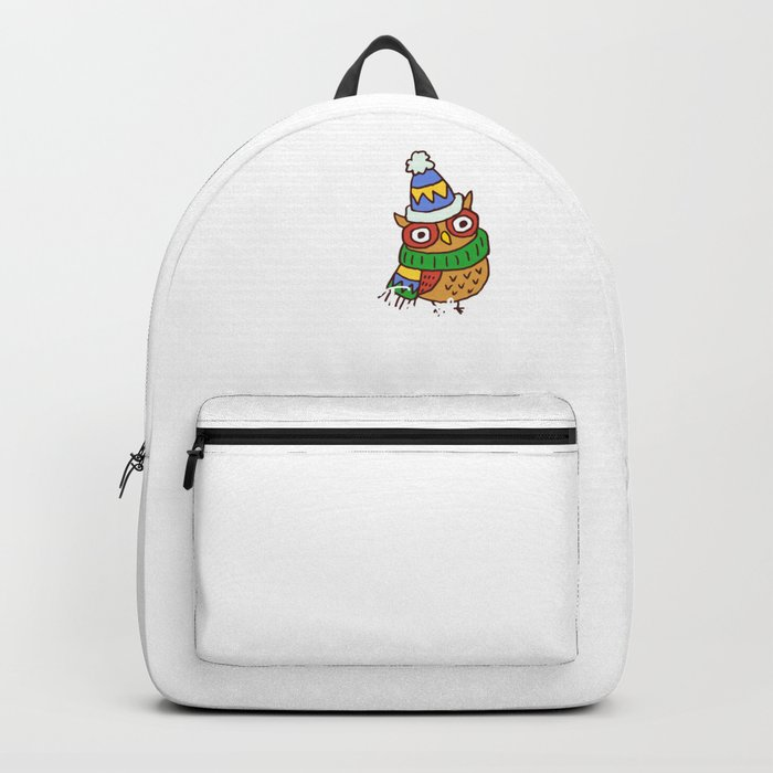 Cute Christmas Puns.Cute Owl Be Home For Christmas Xmas Puns Backpack By Tomgiant