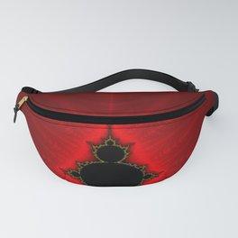 Red Mandelbrot Fractal Fanny Pack