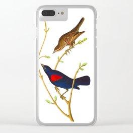 Prairie Starling Bird Clear iPhone Case