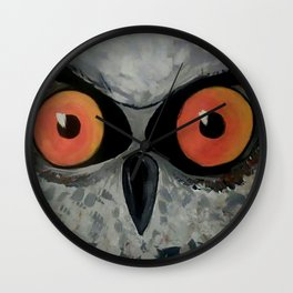 Fierce Owl Wall Clock