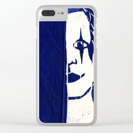 Brandon Lee Blue Clear iPhone Case