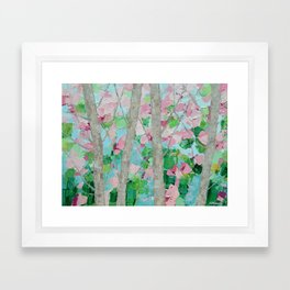 Dancing Cherry Blossom Trees Framed Art Print