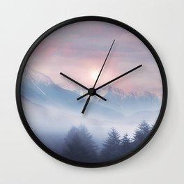 Pastel vibes 11 Wall Clock
