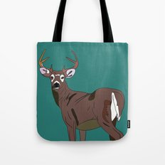 Deer In The Green Tote Bag
