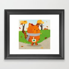 A Lovely Walk To The Shops In Autumn Framed Art Print