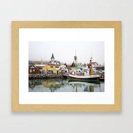 Husavik Whaling Bay Framed Art Print