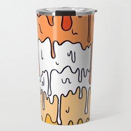 Pastel Kawaii Melting Butch Lesbian Pride LGBTQ Design Travel Mug