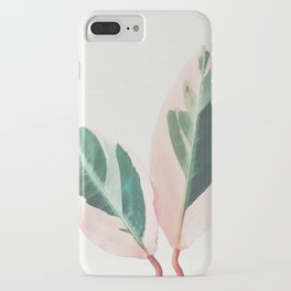 Pink Leaves I iPhone Case