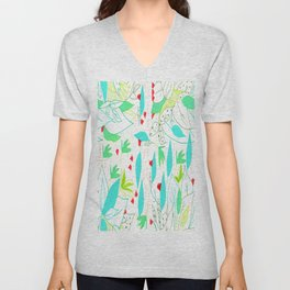 Estampado de hojas/ leave pattern Unisex V-Neck