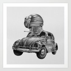 In which a snail accosts a beetle Art Print