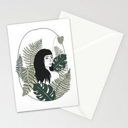 Tropical Plant Lady Stationery Cards