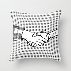 Man and Machine Throw Pillow