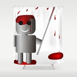 Robo kuudere Shower Curtain