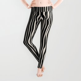 Between the lines doodle 2. Black #abstract Leggings
