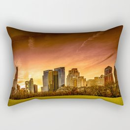 Sunset over Midtown Manhattan Rectangular Pillow