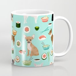 chihuahua sushi dog lover pet gifts cute pure breed chihuahuas multi coat colors Coffee Mug
