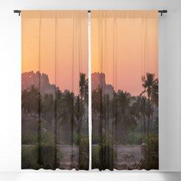 Sunrise at Hampi, India Blackout Curtain
