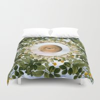evil eye Duvet Covers featuring EVIL EYE II by DIVIDUS