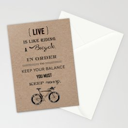 Life is like riding craft Stationery Cards