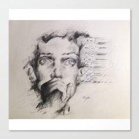 joy division Canvas Prints featuring Joy Division by Oriane Jouët