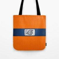 lannister Tote Bags featuring NARUTO BANDANA HEADBAND by BeautyArtGalery