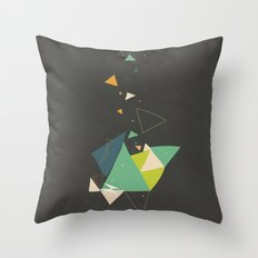 Exploding Triangles//Six Throw Pillow