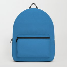 Solid Glacial Blue Ice Color Backpack