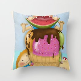 The pleasure of being twin Throw Pillow