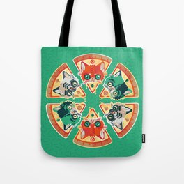 Pizza Slice Cats  Tote Bag