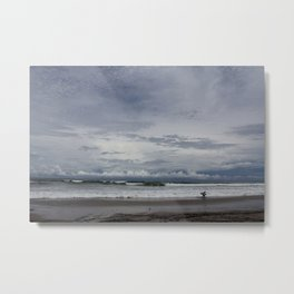 Costa Rican Surf Break Metal Print