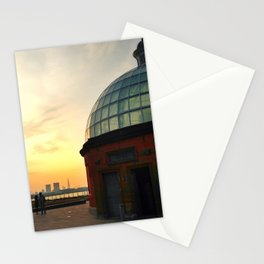 Greenwich Foot Tunnel Sunset Stationery Cards