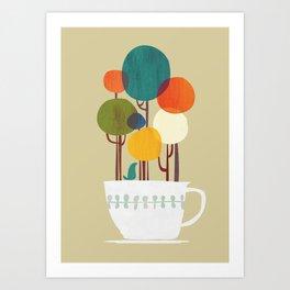 Life in a cup Kunstdrucke