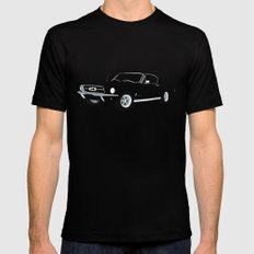 1968 Ford Mustang GT Mens Fitted Tee MEDIUM Black