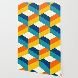 Retro colors 3D choco drops pattern Wallpaper