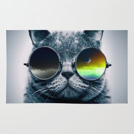 Cat with shades Rug