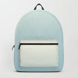 Ombre Blue Plume Pale Creme Backpack