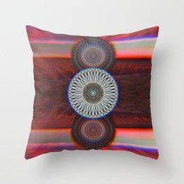 Three Mandalas Throw Pillow