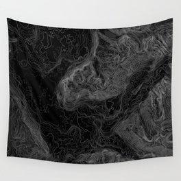 NORTH BEND WA TOPO MAP - DARK Wall Tapestry
