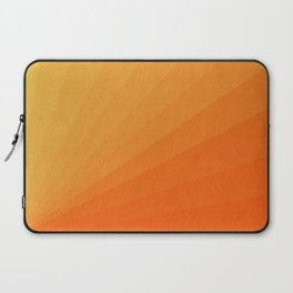 Shades of Sun - Line Gradient Pattern between Light Orange and Pale Orange Laptop Sleeve