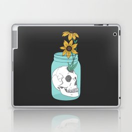 Skull in Jar with Flowers Laptop & iPad Skin