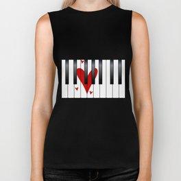 Love Piano Biker Tank