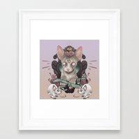 sphynx Framed Art Prints featuring Sphynx by AlchemyArt